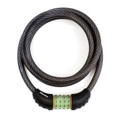 Zapięcie rowerowe MASTERLOCK QUANTUM 8190 12mm 180cm SZYFR fluorescencyjny czarne
